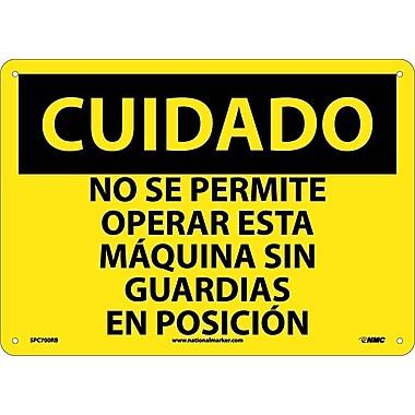 Cuidado, No Se Permite Operar Esta Maquina Sin Guardiaas En Posicion, 10X14, Rigid Plastic