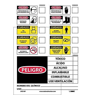 Labels, Chemical Id (Spanish), 14X10, Adhesive Vinyl