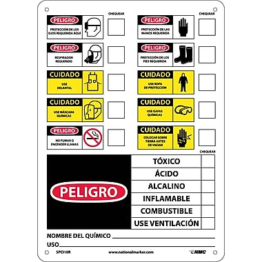 Labels, Chemical Id (Spanish), 14X10, Rigid Plastic