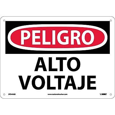 Peligro, Alto Voltaje, 10X14, .040 Aluminum