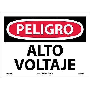 Peligro, Alto Voltaje, 10X14, Adhesive Vinyl