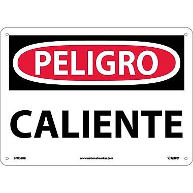 Peligro, Caliente, 10X14, Rigid Plastic