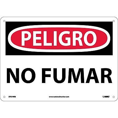 Peligro, No Fumar, 10X14, Rigid Plastic
