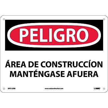Peligro, Area De Construccion, 10X14, Rigid Plastic
