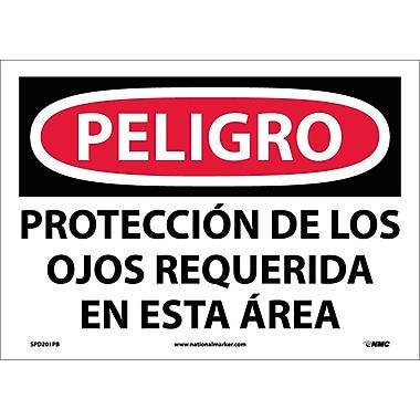 Peligro, Proteccion De Los Ojos Requerida En Esta Area, 10X14, Adhesive Vinyl