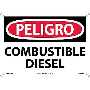 Peligro, Combustible Diesel, 10X14, Rigid Plastic