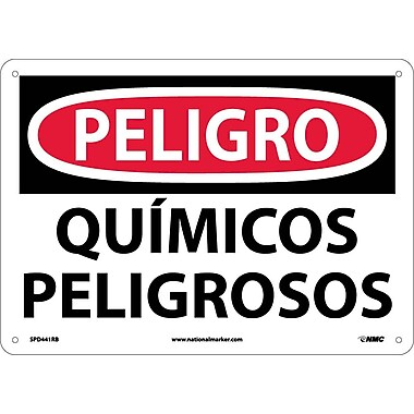 Peligro, Quimicos Peligrosos, 10X14, Rigid Plastic
