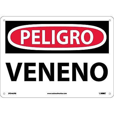 Peligro, Veneno, 10X14, Rigid Plastic