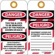Lockout Tags, This Tag & Lock To Be Removed Only By The Person Shown On Back, Bilingual, 6X3, Unrip Vinyl, 25/Pk