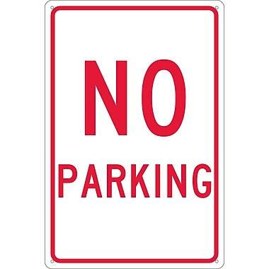 No Parking, 18X12, .040 Aluminum