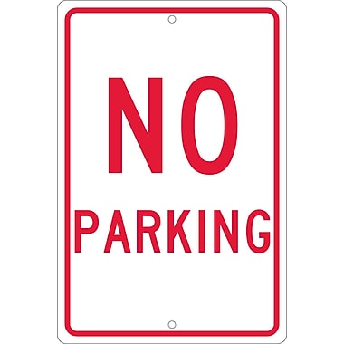 No Parking, 18X12, .063 Aluminum