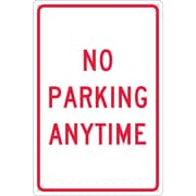 No Parking Anytime, 18X12, .040 Aluminum