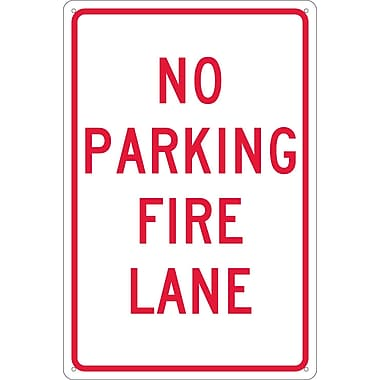 No Parking Fire Lane, 18X12, .040 Aluminum