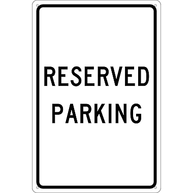 Reserved Parking,18X12, .040 Aluminum