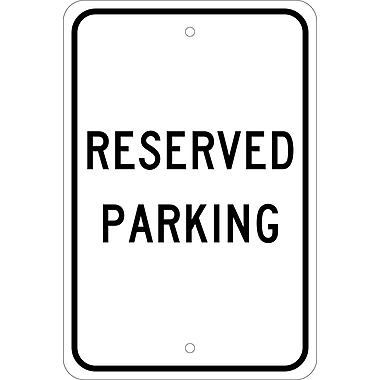 Reserved Parking, 18X12, .080 Egp Ref Aluminum