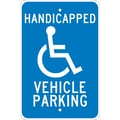 Handicapped Vehicle Parking, 18X12, .080 Egp Ref Aluminum