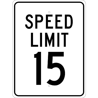Speed Limit 15, 24X18, .080 Egp Ref Aluminum