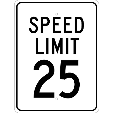 Speed Limit 25, 24X18, .080 Egp Ref Aluminum