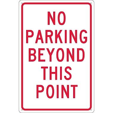 No Parking Beyond This Point, 18X12, .040 Aluminum