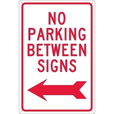 No Parking Between Signs with Left Arrow, 18