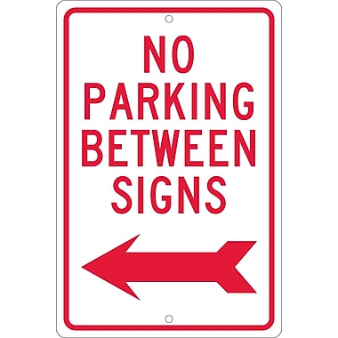 No Parking Between Signs with Left Arrow, 18