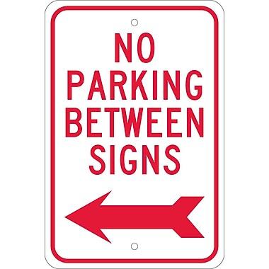 No Parking Between Signs (W/ Left Arrow), 18X12, .080 Egp Ref Aluminum