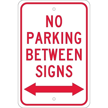 No Parking Between Signs with Double Arrow, 18