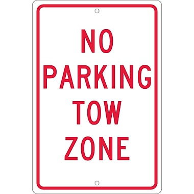 No Parking Tow Zone, 18X12, .063 Aluminum
