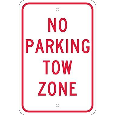 No Parking Tow Zone, 18X12, .080 Egp Ref Aluminum