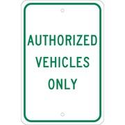 "Authorized Vehicles Only, 18"" x 12"", .080 Egp Ref Aluminum"