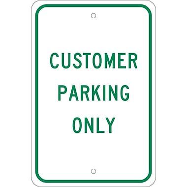 Customer Parking Only, 18X12, .080 Egp Ref Aluminum