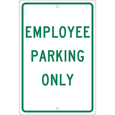 Employee Parking Only, 18X12, .063 Aluminum