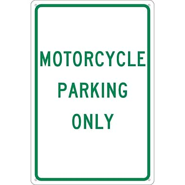 Motorcycle Parking Only, 18X12, .040 Aluminum