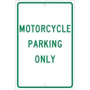 Motorcycle Parking Only, 18X12, .063 Aluminum