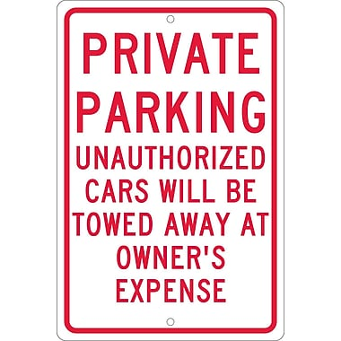 Private Parking Unauthorized Cars Will Be Towed..., 18