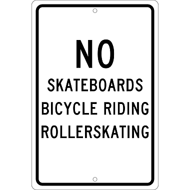 No Skateboards Bicycle Riding Roller Skating, 18
