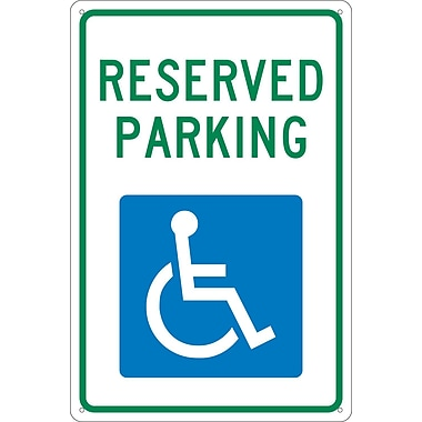 Reserved Parking, 18X12, .040 Aluminum