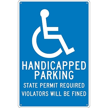Handicapped Parking State Permit Required.., 18