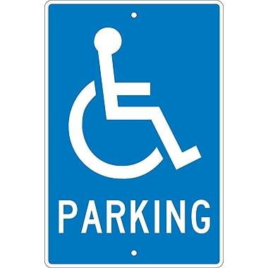 Parking (W/ Handicapped Symbol), 18X12, .063 Aluminum