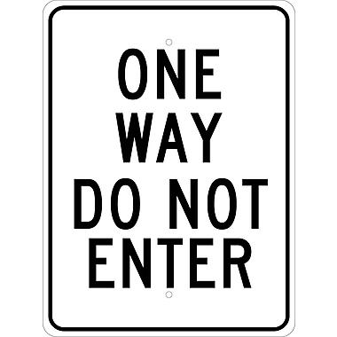 One Way Do Not Enter, 24X18, .080 Hip Ref Aluminum