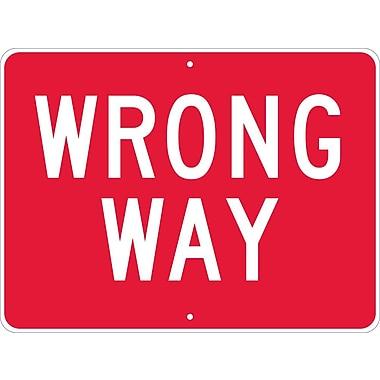 Wrong Way, 18X24, .080 Egp Ref Aluminum