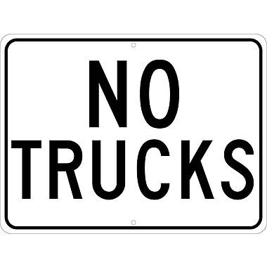 No Trucks, 18X24, .080 Hip Ref Aluminum