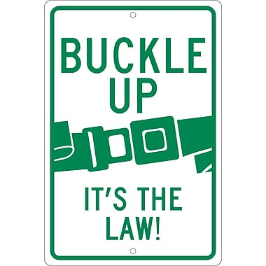 Buckle Up It'S The Law, 18X12, .063 Aluminum