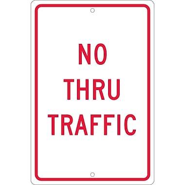No Thru Traffic, 18X12, .063 Aluminum