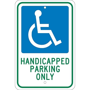 Graphic, Handicapped Parking Only 18X12, .080 Egp Ref Aluminum