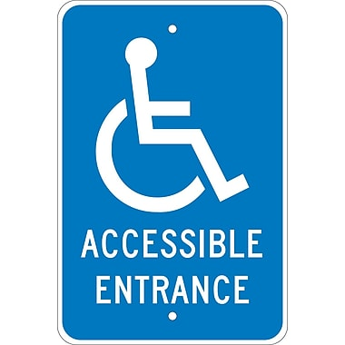 Graphic, Accessible Entrance, 18X12, .080 Egp Ref Aluminum