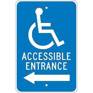 Graphic, Accessible Entrance Left Arrow, 18