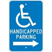 Graphic, Handicapped Parking (Right Arrow), 18X12, .080 Egp Ref Aluminum