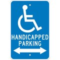 Graphic, Handicapped Parking (Double Arrow), 18X12, .080 Egp Ref Aluminum