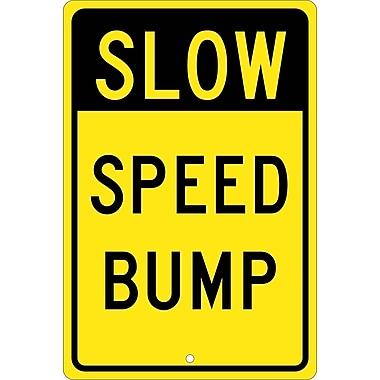 Slow Speed Bump, 18X12, .080 Hip Ref Aluminum